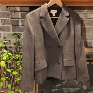 Women's Talbots brown tweed blazer sz 8